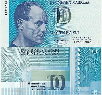 Finland 10 Markkaa Banknote,1986 Uncirculated Condition Cat#113-A-7941-9046