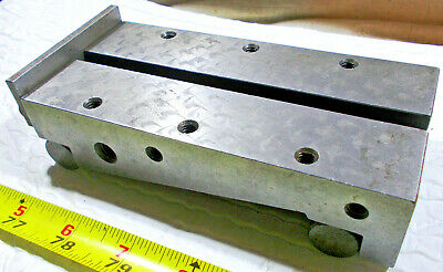 """6 1/8"""" Long X 3"""" Wide X 1 1/2"""" High Sine Bar with 1/4-20 Holes and T-Nut Slot"""