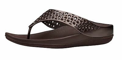 995bff9236abe5 Women FitFlop Ringer Welljelly Flip Flop Sandal E38-012 Bronze 100%  Original New
