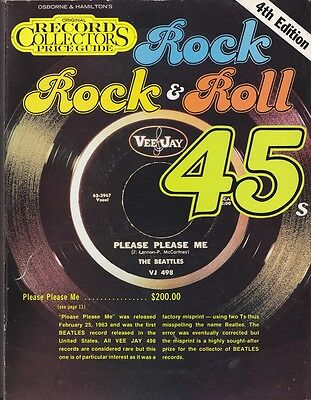 Record Collectors Price Guide Rock & Roll 45s - 1983 4th Edition.