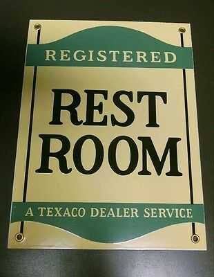 TEXACO Rest Room porcelain sign...Gas Oil