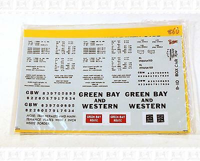 Herald King HO Decals Green Bay and Western 40' Or 50' Boxcar B-10