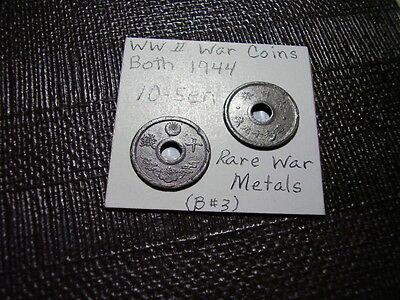 WW ll-War Coins From Old Japan (2) Both *10 Sen 1944   Close out Sale   Lot B#3