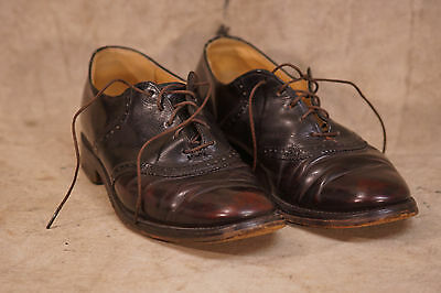 Vintage 1940's Men's Leather Dress Shoes, Size, Great Color!