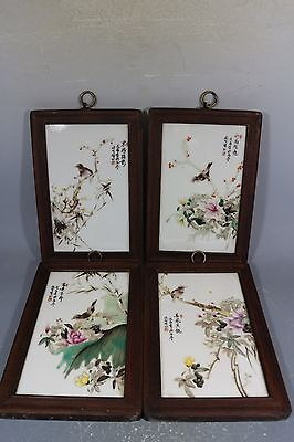 beautiful chinese famille rose porcelain a set of Plaque