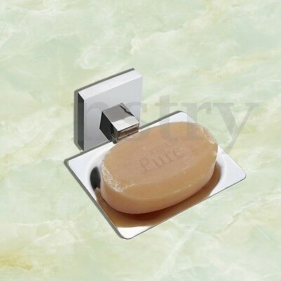 Soap Box Case Stainless Steel Wall Mount Bathroom Dish Plate Tray Storage Holder