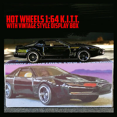 Hot Wheels 1:64 K.I.T.T with vintage style display box