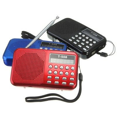 Mini Rechargeable Portable Speaker FM Radio USB Micro MP3 Player LED Digital New