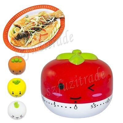 Countdown Timer 60 Minute Mechanical Kitchen Cooking Study Count Down Alarm BJ