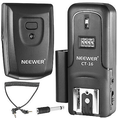 Neewer 16 Channels Wireless Radio Flash Speedlite Studio Trigger Set