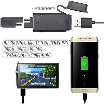 Battery Tender Motorcycle Atv Sae Usb Charger Quick Disconnect Adapter Phone