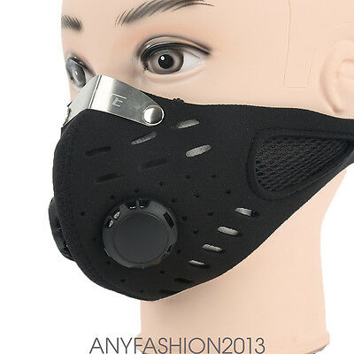 Face Mask Anti-Pollution Motorcycle Racing breathe Bicycle Cycling Carbon Cloth