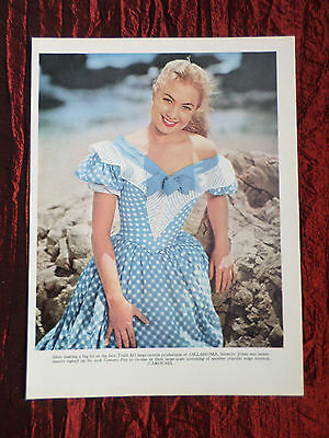"""Shirley Jones - Film Star - 1 Page Picture -"""" Clipping / Cutting"""" - #2"""