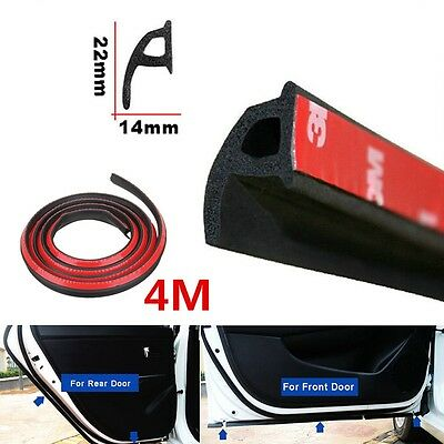 4M P-Type Strips Car Auto Door Sealing Truck Motor Van Rubber Door Seal Strip