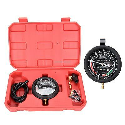 Carburetor Valve Fuel Pump Pressure Test/Vacuum Tester/Testing Gauge Kit W/Case