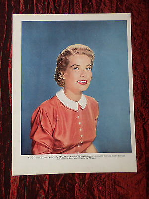 """Grace Kelly - Film Star - 1 Page Picture -"""" Clipping / Cutting"""""""