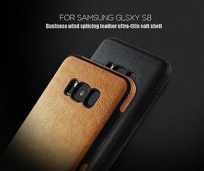 New ShockProof PU Leather Rugged Case Cover for Samsung Galaxy S8 & S8 Plus
