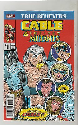 Marvel Comics Cable And The New Mutants #1 True Believers Reprint Nm