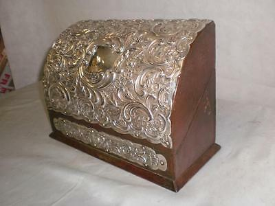 """Antique Silver Mounted Morocco Leather Stationery Box by """"Mappin & Webb"""" 1902"""