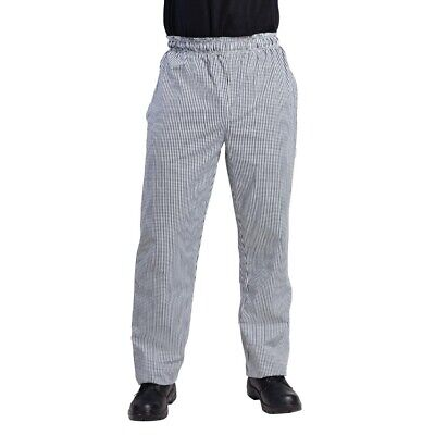 Whites Vegas Chefs Pants Small Black and White Check L BARGAIN