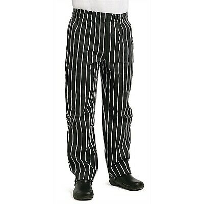 Whites Easy Fit Butchers Stripe Pants Black S BARGAIN