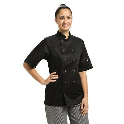 Whites Vegas Chefs Jacket Short Sleeve Black M BARGAIN