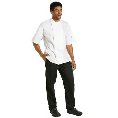 Le Chef Staycool Short Sleeve Jacket White L BARGAIN