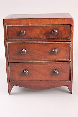 Stunning Antique Miniature Georgian Cuban Mahogany Chest of Drawers