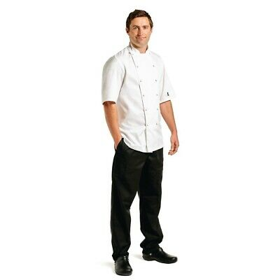 Le Chef Premium Short Sleeve Executive Chefs Jacket White 50 BARGAIN