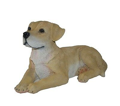 New 14.6 x 7.7 x 8.2 inches Durable Indoor/Outdoor Laying Yellow Lab Statue