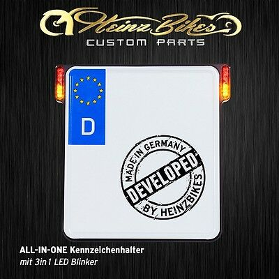 All-In-One Kennzeichenhalter mit 3in1 LED Blinker für Iron FortyEight 48,schwarz
