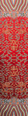 "100"" Tapestry Style Silk Damask Jacquard Brocade China Dragon Robe Fabric"