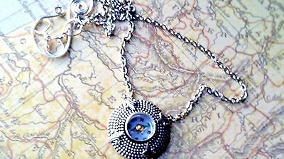 Compass Necklace Antique Sterling Silver finish Jewelry Gift Sale Low Shipping