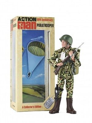 Action Man 50th Anniversary  AM714 Paratrooper 1:18th Scale Figure Ltd Edition