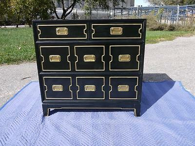 Mid Century Dorothy DRAPER Hollywood Regency BLACK GILT MONT Baker ERA CHEST