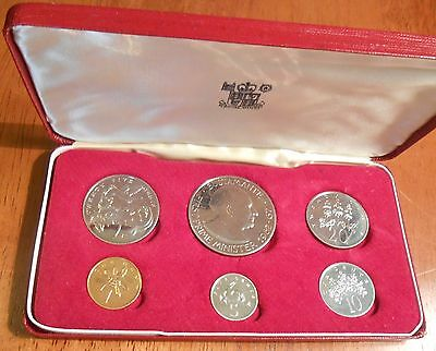 1969 Jamaica Proof Set 6 Pieces Coin
