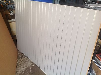 Slat Wall Panels Silver Finish With Aluminum Inserts Set Of Four