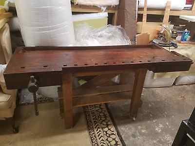 Antique Carpenters Workbench Butcher Block Early Barn Find Repurpose or Reuse