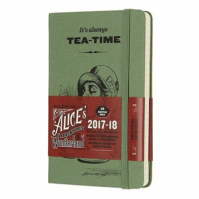 MOLESKINE ALICE IN WONDERLAND Agenda WEEKLY NOTEBOOK Small 2017-18 18 MESI