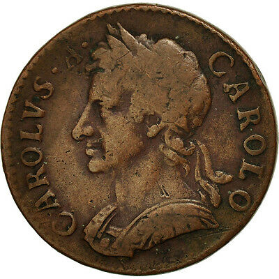 [#451648] Great Britain, Charles II, Farthing, 1675, VF(30-35), Copper, KM:436.1