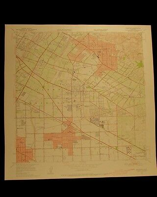 Whittier California vintage 1955 original USGS Topographical chart