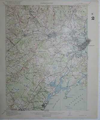 Portland Maine Old Orchard beach Westbrook Scarboro vintage 1916 USGS Topo chart