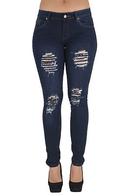 K452B-R – Classic, Destroyed, Ripped, Sexy Skinny Jeans