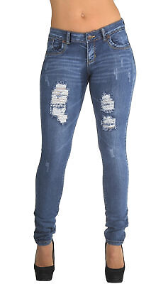 Style CH032P - Plus Size, Classic, Ripped Distressed, Destroyed Skinny Jeans in