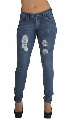 Style CH032SK– Classic Design, Ripped Distressed, Destroyed Skinny Jeans in