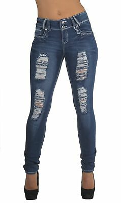 Style N596R-SK– Classic Design, Ripped Distressed, Destroyed Skinny Jeans in