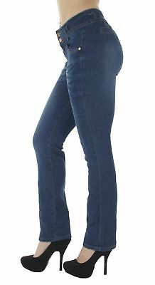N602BT – Colombian Design, Butt Lift, Levanta Cola, Mid Waist, Boot Leg Jeans in