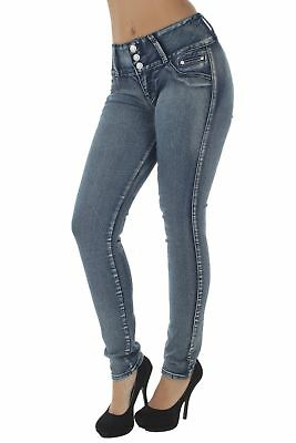 Style E241 - Colombian Design, Mid Waist, Butt Lift, Skinny Jeans