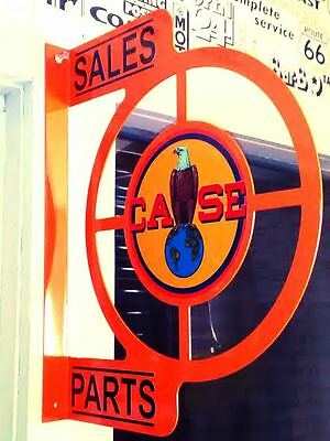 Case Tractor Vintage Nostalgic Wall Flange Advertising Sign 2 Sided