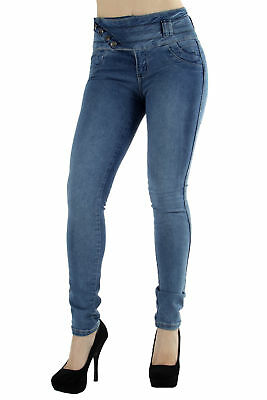 Style M1177  Colombian Design, Mid Waist, Butt Lift, Levanta Cola, Skinny Jeans